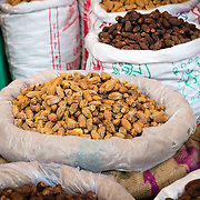Dried dates in spice market in Chandni Chowk, Old Delhi