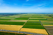 Nederland, Utrecht, Eemnes, 09-06-2016; Arkemheen-Eemland, polderlandschap tussen Eemnes en Spakenburg, een van de laatste open polderlandschappen in de Randstad. <br /> Polder landscape between Utrecht and Amsterdam.<br /> <br /> luchtfoto (toeslag op standard tarieven);<br /> aerial photo (additional fee required);<br /> copyright foto/photo Siebe Swart
