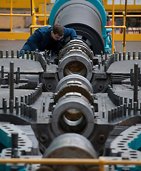 © London News Pictures. 10/03/2012.  Newcastle, UK.  A craft apprentice working at Siemens Energy Service Training Centre in Newcastle Upon Tyne on March 10th 2012. The Liberal Domocrat Spring Conference is being held in Newcastle this weekend. Photo credit : Ben Cawthra/LNP