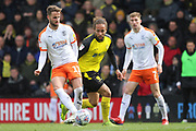 Luton Town midfielder Andrew Shinnie during the EFL Sky Bet League 1 match between Burton Albion and Luton Town at the Pirelli Stadium, Burton upon Trent, England on 27 April 2019.