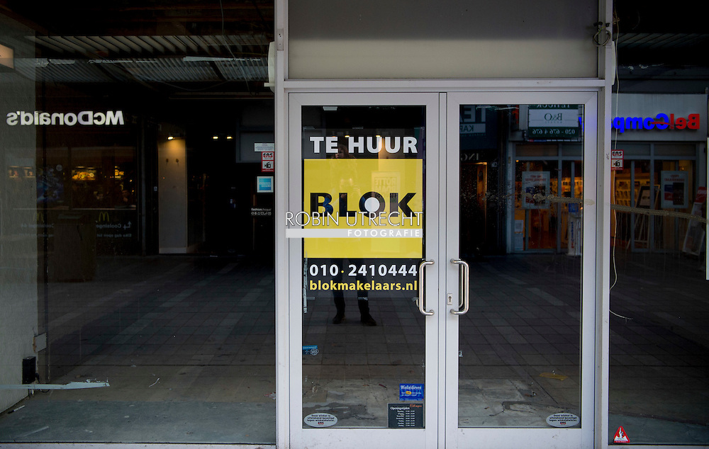 ROTTERDAM - leegstaande winkels en failliette winkels in het centrum robin utrecht