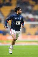 Liam Bridcutt of Nottingham Forest warms up ahead of the EFL Sky Bet Championship match between Wolverhampton Wanderers and Nottingham Forest at Molineux, Wolverhampton, England on 20 January 2018. Photo by Darren Musgrove.