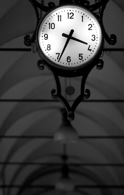 "Black and white photography.Clock in Bologna Italy by Karl R Lilliendahl photographer. Photo is available as open edition and limited edition giclee print in four sizes. Click on ""Get Print"" to see more details."