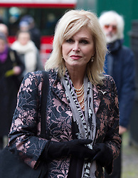 LONDON- UK- 03- MAR-2014: Britain's Prince Harry represents The Queen at a National Service of Thanksgiving to celebrate the life of Nelson Mandela, former President of the Republic of South Africa. Westminster Abbey, London.<br /> Joanna Lumley<br /> Photograph by Ian Jones