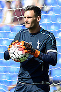 Hugo Lloris during the Barclays Premier League match between Tottenham Hotspur and Crystal Palace at White Hart Lane, London, England on 20 September 2015. Photo by Alan Franklin.