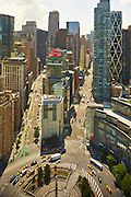 View of Columbus Circle from 1 Central Park South, 39th floor