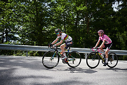 Anna van der Breggen (NED) on the final climb during Stage 9 of 2019 Giro Rosa Iccrea, a 125.5 km road race from Gemona to Chiusaforte, Italy on July 13, 2019. Photo by Sean Robinson/velofocus.com
