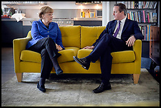 FEB 27 2014 David Cameron and Angela Merkel