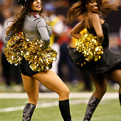 Oct 31, 2010; New Orleans, LA, USA; New Orleans Saints Saintsations cheerleaders perform during the second half at the Louisiana Superdome. The Saints defeated the Steelers 20-10.  Mandatory Credit: Derick E. Hingle-US PRESSWIRE
