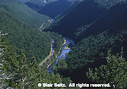 Pine Creek Gorge from Harrison State Park lookout on east, Tioga Co., PA Aerial Photograph Pennsylvania