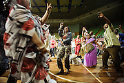 African Party night at the Kasarani Indoor Arena gathered people from all sides of the Globe during the VII World Social Forum. Nairobi city, Kenya, Africa.