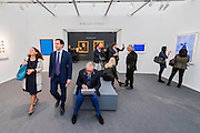 The Robilant + Voena gallery - Frieze Masters London 2015, Regents Park, London. It covers several thousand years of art from 130 of the world's leading modern and historical galleries. The vetted artworks spanning antiquities, Asian art, ethnographic art, illuminated manuscripts, Medieval, modern and post-war, Old Masters and 19th-century, photography, sculpture and Wunderkammer are brought together in a singular space designed by Anabelle Selldorf.  The fair is open to the public 14–17 October.