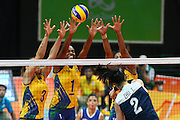 RIO DE JANEIRO, BRAZIL - AUGUST 16:<br /> <br /> Fabiana Claudino #1 of Brazil in action during the Women\'s Quarterfinal match between China and Brazil on day 11 of the Rio 2106 Olympic Games at the Maracanazinho on August 16, 2016 in Rio de Janeiro, Brazil. <br /> ©Exclusivepix Media