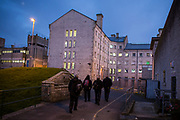 Prison officer finish a shift inside HMP/YOI Portland, a resettlement prison with a capacity for 530 prisoners. Dorset, United Kingdom.