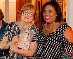 Author Alice Hoffman poses for a picture with Commissioner of Tourism Beverly Nicholson-Doty.  5 February 2016.  St. Thomas, USVI.  © Aisha-Zakiya Boyd