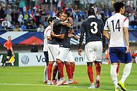 Joie France - Corentin TOLISSO - 11.06.2015 - Football Espoirs - France / Coree du Sud - match amical -Gueugnon<br /> Photo : Jean Paul Thomas / Icon Sport