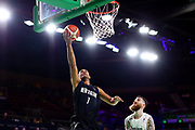 Mika Vukona of New Zealand puts up a shot during the Men's Bronze Medal Game between the New Zealand Tall Blacks and Scotland. Gold Coast 2018 Commonwealth Games, Basketball, Gold Coast Convention & Exhibition Centre, Gold Coast, Australia. 15 April 2018 © Copyright Photo: Anthony Au-Yeung / www.photosport.nz