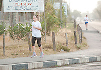 24/11/2013 repro free Leigh Ann Maddock from Waterford taking part in the Great Ethiopian run in Hawassa as opposed to the Capital Addis Ababa due to a security threat, part of a group of 20 from Ireland who ran the race in aid of Self Help Africa. Photo:Andrew Downes