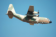 Israeli Air force Hercules 100 transport plane in flight