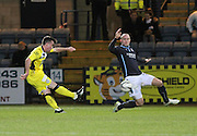 St Mirren's Stephen Mallan fires his side into a two goal lead  - Dundee v St Mirren, SPFL Premiership at <br /> Dens Park<br /> <br />  - &copy; David Young - www.davidyoungphoto.co.uk - email: davidyoungphoto@gmail.com