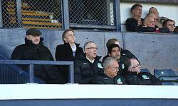 Hibernian's directors during the first half. <br /> Raith Rovers 1 v 2 Hibernian, Scottish Championship game played 24/10/2015 at Starks Park.