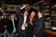 Dan Stein , Jamie Morrison, Jack Kidd and Andrew Barlow, PJ's Annual Polo Party . Annual Pre-Polo party that celebrates the start of the 2007 Polo season.  PJ's Bar & Grill, 52 Fulham Road, London, SW3. 14 May 2007. <br />