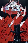 Welcome Comrades! Long Live the Third Internationale', 1920. Soviet propaganda poster by Dmitry Moor (Orlov).  Russia USSR  Communism Communist