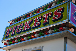 Ticket sign at the California Mid State Fair, Paso Robles, California, United States of America
