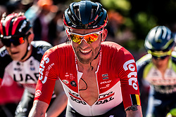 Tomasz MARCZYNSKI of Lotto Soudal during the last climb at Mur de Huy of the 2018 La Flèche Wallonne race, Huy, Belgium, 18 April 2018, Photo by Pim Nijland / PelotonPhotos.com | All photos usage must carry mandatory copyright credit (Peloton Photos | Pim Nijland)