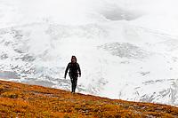 Hiking near the Eigergletscher, Swiss Alps, Canton Bern, Switzerland