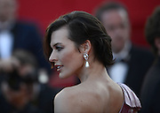 23.MAY.2012. CANNES<br /> <br /> MILLA JOVOVICH ARRIVES AT THE SCREENING OF 'ON THE ROAD' DURING THE 65TH CANNES FILM FESTIVAL, CANNES, FRANCE.<br /> <br /> BYLINE: EDBIMAGEARCHIVE.CO.UK<br /> <br /> *THIS IMAGE IS STRICTLY FOR UK NEWSPAPERS AND MAGAZINES ONLY*<br /> *FOR WORLD WIDE SALES AND WEB USE PLEASE CONTACT EDBIMAGEARCHIVE - 0208 954 5968*