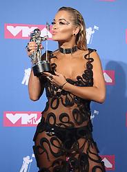 August 20, 2018 - New York City, New York, U.S. - Singer RITA ORA  poses for photos in the press room for the 2018 MTV 'VMAS' held at Radio City Music Hall. (Credit Image: © Nancy Kaszerman via ZUMA Wire)