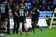 Wasps flanker Ashley Johnson is sin binned during the Aviva Premiership match between Wasps and Exeter Chiefs at the Ricoh Arena, Coventry, England on 18 February 2018. Picture by Dennis Goodwin.