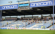Plymouth supporters start to fill the away end before kick off during the Sky Bet League 2 play-off first leg match between Portsmouth and Plymouth Argyle at Fratton Park, Portsmouth, England on 12 May 2016. Photo by Adam Rivers.