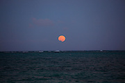 Full moon rise, Hawaii