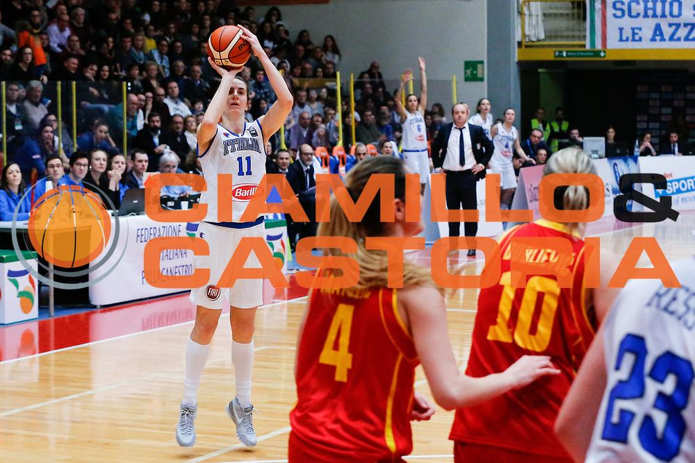 DESCRIZIONE : Schio Nazionale Italia Femminile Qualificazione Europeo Femminile 2017 Italia Montenegro Italy Montenegro<br /> GIOCATORE :&nbsp;Raffaella Masciadri<br /> CATEGORIA :&nbsp;Tiro<br /> SQUADRA : Italia Italy<br /> EVENTO : Qualificazione Europeo Femminile 2017<br /> GARA : Italia Montenegro Italy Montenegro<br /> DATA : 20/02/2016&nbsp;<br /> SPORT : Pallacanestro<br /> AUTORE : Agenzia Ciamillo-Castoria/<br /> Galleria : FIP Nazionali 2016<br /> Fotonotizia : Schio Nazionale Italia Femminile Qualificazione Europeo Femminile 2017 Italia Montenegro Italy Montenegro