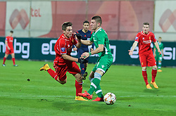 SOFIA, BULGARIA - Wednesday, November 26, 2014: Liverpool's Sergi Canos is brought down for a penalty against PFC Ludogorets Razgrad during the UEFA Youth League Group B match at the Georgi Asparuhov Stadium. (Pic by David Rawcliffe/Propaganda)