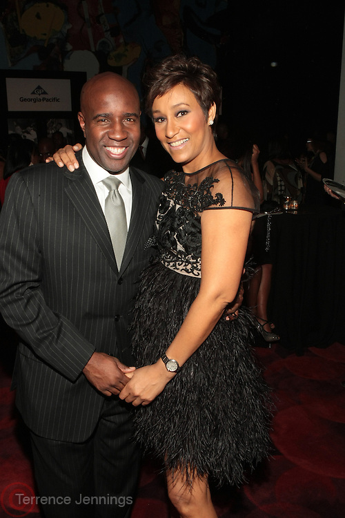 November 3, 2012- New York, NY:  (L-R) Len Burnett, Co-CEO & Group Publisher of Uptown Media Group & Vibe Lifestyle Network and Desiree Rogers, CEO, Johnson Publishing Company at the EBONY Power 100 Gala Presented by Nationwide held at Jazz at Lincoln Center on November 3, 2012 in New York City. The EBONY Power 100 Gala Presented by Nationwide salutes the country's most influential African Americans.(Terrence Jennings) .