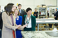 040819 Queen Letizia visits the School of Engraving and Graphic Design