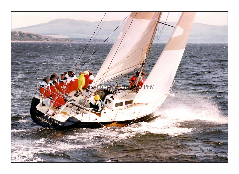 The Clyde Cruising Club's Scottish Series held on Loch Fyne by Tarbert. <br /> <br /> <br /> Bataluer - Chris Bonar sailing in 1992<br /> <br /> Picture Copyright  PFM Pictures