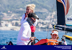 Genoa, Italy is hosting sailors for the third regatta of the 2019 Hempel World Cup Series from 15-21 April 2019. More than 700 competitors from 60 nations are racing across eight Olympic Events.©JESUS RENEDO/SAILING ENERGY/WORLD SAILING<br /> 20 April, 2019.