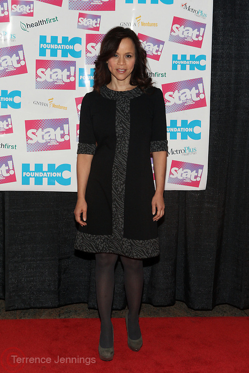 8 December 2010- New York, NY- Rosie Perez at the Kick-Off of The Stat! for New York City's Public Hospitals held at Bellevue Hospital Center Atrium on December 8, 2010 in New York City. Photo Credit: Terrence Jennings