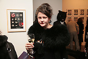 Hilary Penn, Moving Picture. Exhibition of work by Marcel Dzama. Timothy Taylor Gallery.  Dering St. London. 7 March 2007.  -DO NOT ARCHIVE-© Copyright Photograph by Dafydd Jones. 248 Clapham Rd. London SW9 0PZ. Tel 0207 820 0771. www.dafjones.com.