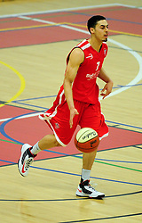 Bristol Academy Flyers' Roy Owen dribbles down the court with the ball - Photo mandatory by-line: Dougie Allward/JMP - Tel: Mobile: 07966 386802 23/03/2013 - SPORT - Basketball - WISE Basketball Arena - SGS College - Bristol -  Bristol Academy Flyers V Essex Leopards