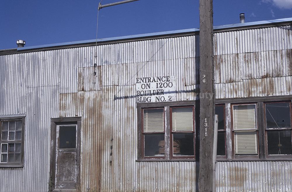 barraque en tole dans un village de l' Ouest americain, Colorado, USA