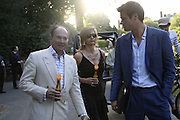 Michael Spencer (?) and Alison Jackson, Conservative Party, Summer party, Royal Hospital Chelsea, Royal Hospital Road, London, SW3,3 July 2006. ONE TIME USE ONLY - DO NOT ARCHIVE  © Copyright Photograph by Dafydd Jones 66 Stockwell Park Rd. London SW9 0DA Tel 020 7733 0108 www.dafjones.com
