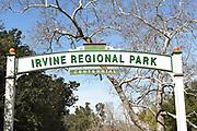 Irvine Regional Park Centennial Sign