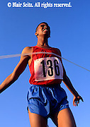 Outdoor recreation, Competitive Running, Track and Field, High School Runners Winning Track Meet,