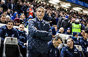 Chris Hughton during the Sky Bet Championship match between Brighton and Hove Albion and Leeds United at the American Express Community Stadium, Brighton and Hove, England on 29 February 2016. Photo by Bennett Dean.