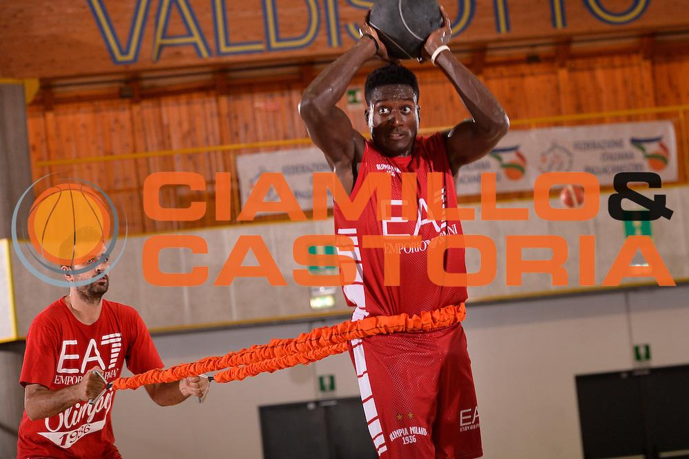 Awudu Abass <br /> EA7 Emporio Armani Olimpia Milano allenamento<br /> Lega Basket Serie A 2016/2017<br /> Bormio 03/09/2016<br /> Foto Ciamillo-Castoria